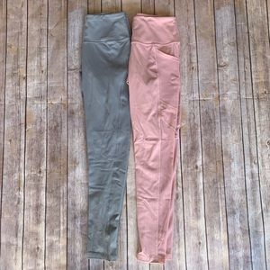 Set of Pink & Blue Leggings from Victoria's Secret